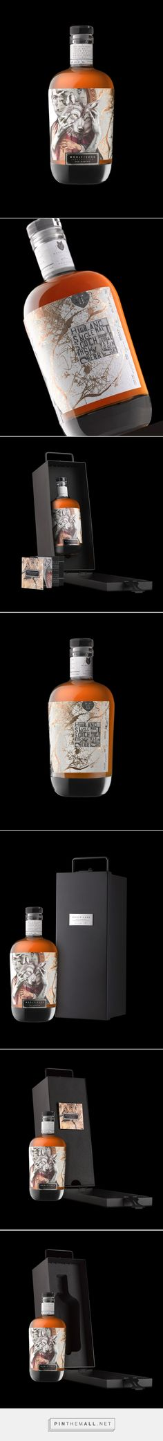 Woolf Sung whiskey packaging design by Stranger & Stranger - http://www.packagingoftheworld.com/2017/10/woolf-sung.html - created via https://pinthemall.net