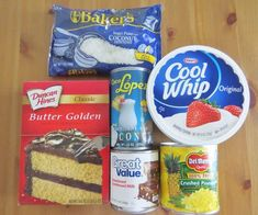 Piña Colada Poke Cake is made easy by using a butter cake mix poked with cream of coconut. It's non-alcoholic and topped with COOL WHIP and coconut! Cool Whip, Pineapple Poke Cake, Crushed Pineapple, Pineapple Slices, Köstliche Desserts, Delicious Desserts, Dessert Recipes, Yummy Food, Fluff Desserts