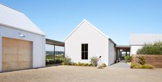 landscape architecture - Exterior of modern design farmhouse by Trinette Reed for Stocksy United Architecture Design, Farmhouse Architecture, Modern Farmhouse Exterior, Farmhouse Design, Residential Architecture, Farmhouse Ideas, White Farmhouse, Landscape Architecture, Modern Barn House