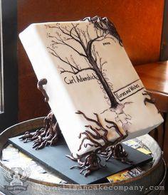 A book cake by Artisan Cake Company Gorgeous Cakes, Pretty Cakes, Amazing Cakes, Gravity Defying Cake, Gravity Cake, Unique Cakes, Creative Cakes, Fondant Cakes, Cupcake Cakes