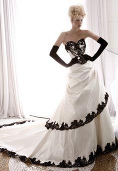Moda femenina: Vestidos de novia en blanco y negro