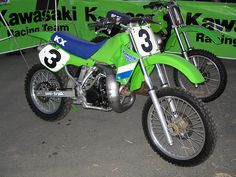 Factory Kawasaki Race Bike Jeff Wards 1987 SR250