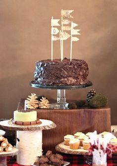 rustic tree-inspired dessert table