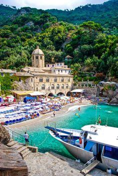 The beachfront monastery at San Fruttuoso, Italy