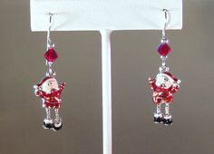 Santas Elves Charm Earrings by blingbychristine on Etsy