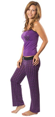 Argyle Heart Cami and Long Pants - Purple Pajamas - $25.55 at The Purple Store