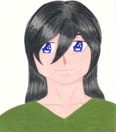 Prismacolor colored pencil drawing of boy.