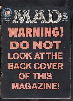 MAD Magazine No. 73, September 1962 - cover