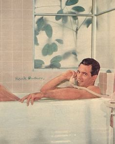 Rock Hudson, vintage beefcake photo...