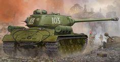 48.55$  Buy now - http://aliflx.worldwells.pw/go.php?t=32719275654 - Trumpeter model 05588 1/35 Soviet JS-2 Heavy Tank