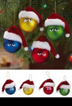 M&M candy Christmas ornament