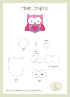 owl pattern                                                       … Felt Owl Pattern, Felt Animal Patterns, Owl Patterns, Stuffed Animal Patterns, Craft Patterns, Felt Owls, Felt Animals, Owl Themed Parties, Owl Templates