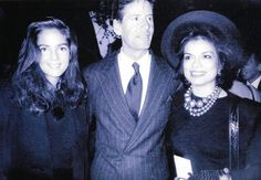 Calvin Klein with his wife Kelly and Bianca Jagger