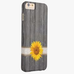 Awesome iPhone 6 Case! Country Sunflower Barn Wood iPhone 6 Plus Case. It's a completely customizable gift for you or your friends.