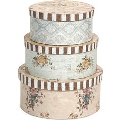 Ella Elaine Hat Boxes (Set of 3) (250 SAR) ❤ liked on Polyvore featuring home, home decor, small item storage, filler and interior