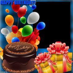1fa6x-6ta-2 Birthday Card With Photo, Birthday Wishes With Name, Happy Birthday Wishes Cake, Birthday Photo Frame, Happy Birthday Frame, Happy Birthday Wallpaper, Happy Birthday Celebration, Happy Birthday Pictures, Birthday Frames