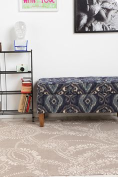 Urban Outfitters' Lace Medallion Rug     (for the front living room?)
