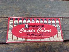 Vintage Grumbacher Casein Colors Set 340  | Crafts, Art Supplies, Painting Supplies | eBay!