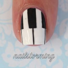 """Piano nails - - Products used :  Base: """"Alpine Snow"""" OPI  Details : acrylic paint Brushes: from @winstonia_store  Top coat : HK girl @glistenandglow1 - - Song: """"Piano Man"""" Billy Joel"""