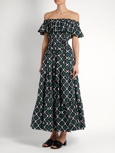 Click here to buy La DoubleJ Editions One Love off-the-shoulder cotton dress at MATCHESFASHION.COM