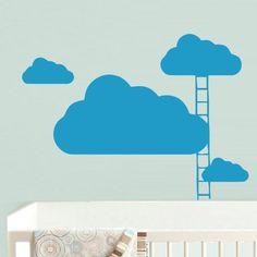 Wall Decal Decor Decals Art Cloud Ladder Nursery Room Nicely Sky (M464) DecorWallDecals http://www.amazon.com/dp/B00FZEQEE2/ref=cm_sw_r_pi_dp_jkYZub1HYV75C