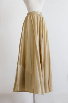 Satin Gold Metallic Maxi Hand Made Vintage by SalvatoCollection
