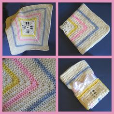 Colorful Crocheted Baby Blanket