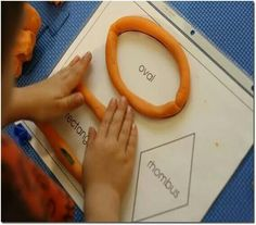 Shapes are more fun with playdough! These shape playdough mats are perfect for learning about shapes and playing with playdough at the same time. Educational Activities For Kids, Preschool Learning Activities, Preschool Printables, Toddler Preschool, Preschool Activities, Teaching Kids, Early Childhood Activities, Free Shapes, Montessori Materials