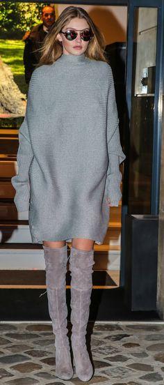 Copia el look de Gigi Hadid en París