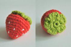 Crochet. Fragola, schema gratuito in italiano.