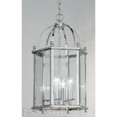 Franklite LA7008/4 Madison 4 Light Ceiling Lantern Polished Chrome