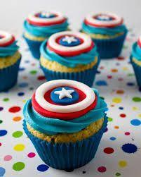 cupcakes capitan america de betun - Buscar con Google