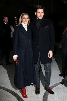 Olivia Palermo and Johannes Huebl attend the Valentino Haute Couture Spring Summer 2017 show as part of Paris Fashion Week on January 25 2017 in...