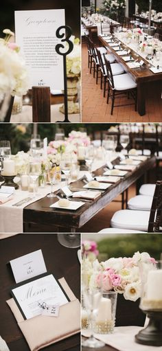 Take advantage of beautiful furniture, if the venue has it!  These tables speak for themselves!!