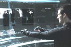 from Minority report. A futuristic computer.