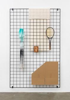 Grid panelling for my studio wall, nicer looking than pegboard. | Eva Berendes #retail #window #wall display
