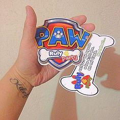 Invitación paw patrol