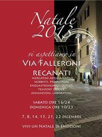 Natale in Via Falleroni e in tutto il centro storico di Recanati, tutti i sabati e le domeniche dal 7 al 22 dicembre