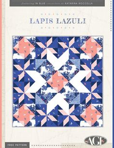 Lapis Lazuli by AGF Studio Free Quilt Pattern