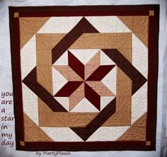 Marty's Fiber Musings: It's quilted and it's a simple half square triangle design: A star to remember