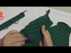 Şiş ile Harika Bir Bebek Yeleği için Ters Örgüde Düz Örme Modeli Yapılışı Videolu Anlatım - YouTube