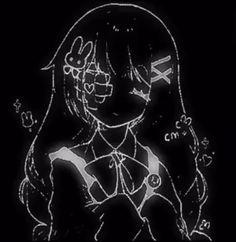 Aesthetic Grunge, Aesthetic Anime, Goth Wallpaper, Dark Anime Girl, Anime Girls, Gothic Anime, Anime Profile, Cybergoth, Cute Icons