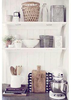 Beautiful bright, white kitchen