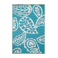 Paisley 4x6 River Blue now featured on Fab.