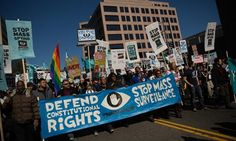 Anti-NSA protest calls for end to US spying - The Economic Times Nsa Surveillance, Political Pictures, United Nations Human Rights, Right To Privacy, Civil Disobedience, Constitutional Rights, Capitol Building, Economic Times, Social Issues