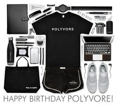 """Happy Birthday, Polyvore!"" by justkejti ❤ liked on Polyvore featuring Abercrombie & Fitch, NIKE, Bobbi Brown Cosmetics, bkr, Skullcandy, Giuliano Mazzuoli, Royce Leather, Montegrappa, Georg Jensen and Michael Kors"