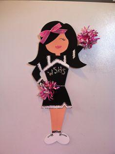 Cheerleader Locker Decorations