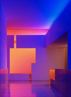 ENCANTO SKY RESIDENCES | Taller Aragonés Neon Lighting, Lighting Design, Neon Noir, Light And Space, Purple Aesthetic, Grafik Design, Light Art, Installation Art, Interior Architecture