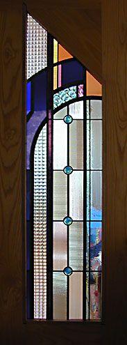 bedroom door window in a contemporary home in Belmont, Massachusetts
