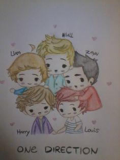 One Direction as cartoon drawing cutie!